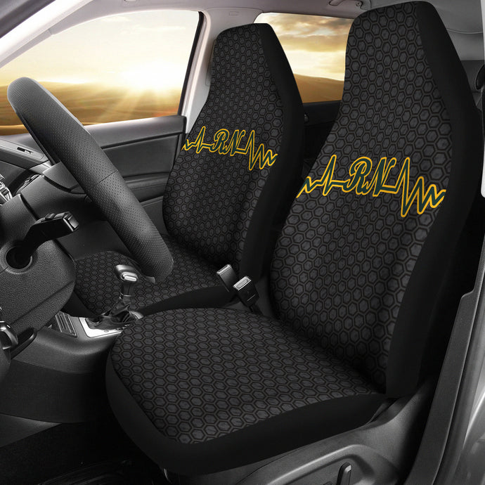 RN Heartbeat Design/Green/Gold/Green Bay/Auto Seat Covers