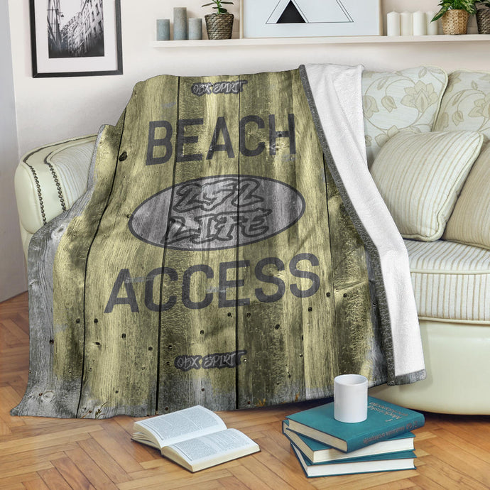 252 Life/Square Blanket/Beach Access/OBX Spirit/Yellow