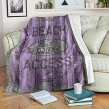 Load image into Gallery viewer, 252 Life/Square Blanket/Beach Acces/OBX Spirit/Purple