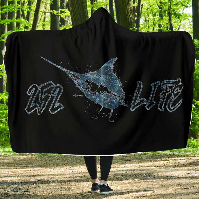 252 Life/Marlin/Blue Sea/Hoodie Blanket/Outer Banks/North Carolina