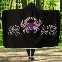 Load image into Gallery viewer, 252 Life/Crab/Purple/Yellow/Hoodie Blanket/Outer Banks/North Carolina