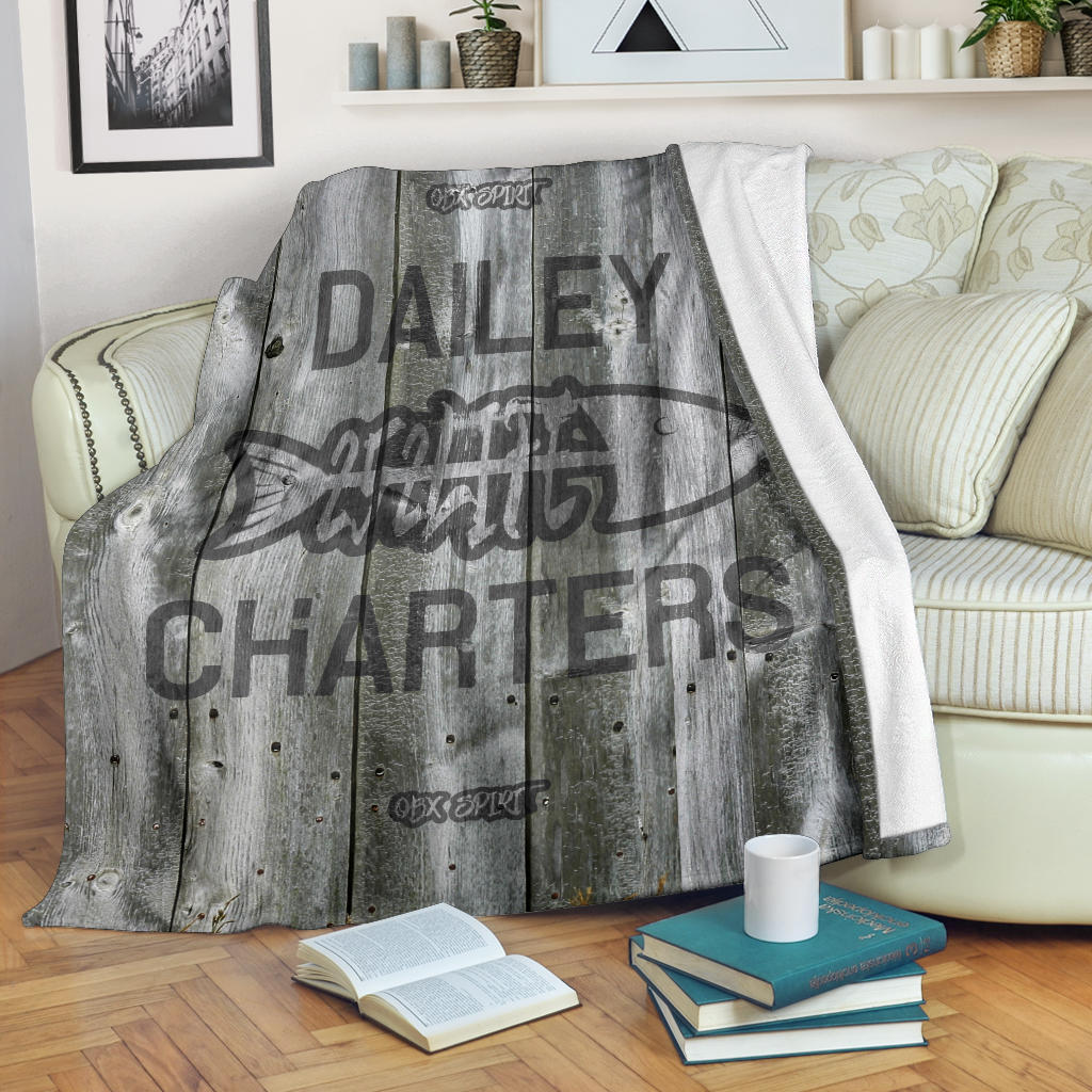 252 Life/Square Blanket/Dailey Charters/OBX Spirit/BW