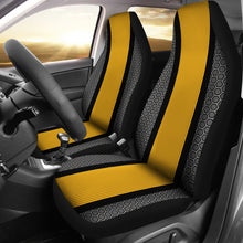 Load image into Gallery viewer, Sport Stripe Design/Black/Yellow/Pittsburgh Style/Auto Seat Covers