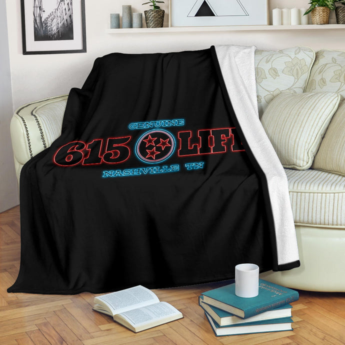 Genuine 615 Life/Neon/Square Blanket
