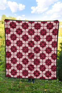 Tribal Quilt/AZ Football/Red/White/Blankets