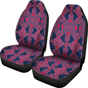 Mexican Pattern/101/Auto Seat Covers/Red/Blue/Atlanta