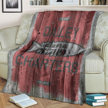 Load image into Gallery viewer, 252 Life/Square Blanket/Dailey Charters/OBX Spirit/Red