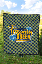 Load image into Gallery viewer, Trauma Queen/Quilt/Blanket/Nurses/Blue/Yellow/Los Angeles