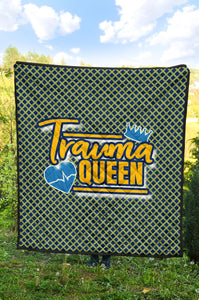 Trauma Queen/Quilt/Blanket/Nurses/Blue/Yellow/Los Angeles