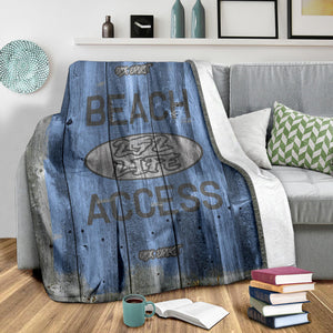 252 Life/Square Blanket/Beach Access/OBX Spirit/Blue
