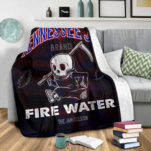 Tennessee Jed Fire Water/Square Blanket