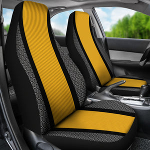 Sport Stripe Design/Black/Yellow/Pittsburgh Style/Auto Seat Covers