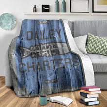 Load image into Gallery viewer, 252 Life/Square Blanket/Dailey Charters/OBX Spirit/Blue