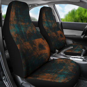 Auto Seat Covers/Abstract Pattern/Miami/Florida/Orange/Teal