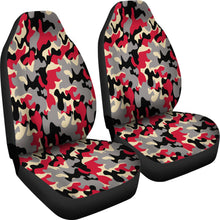 Load image into Gallery viewer, Camo Design Pattern/Red/Black/Arizona Style/Auto Seat Cover