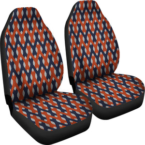 Lattice Weave Design/Red/Blue/Virginia/Auto Seat Cover