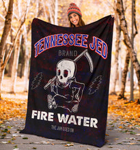 Load image into Gallery viewer, Tennessee Jed Fire Water/Square Blanket