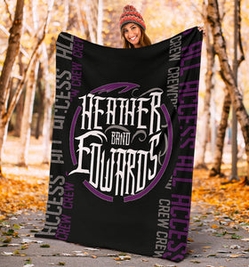 Heather Edwards Band/Backstage Pass/Square Blanket/Purple