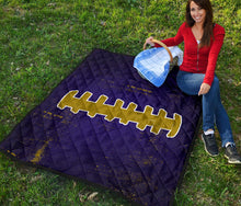 Load image into Gallery viewer, Football Laces/Purple/Gold/Quilt/Blanket/Baltimore