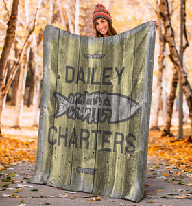 252 Life/Square Blanket/Dailey Charters/OBX Spirit/Yellow