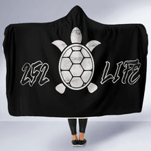 Load image into Gallery viewer, 252 Life/Sea Turtle/Black and White/Hoodie Blanket/Outer Banks/North Carolina