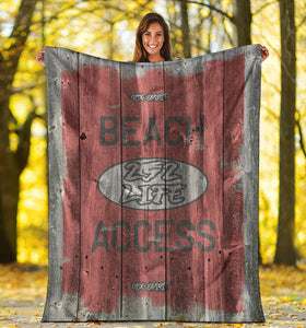 252 Life/Square Blanket/Beach Acces/OBX Spirit/Red