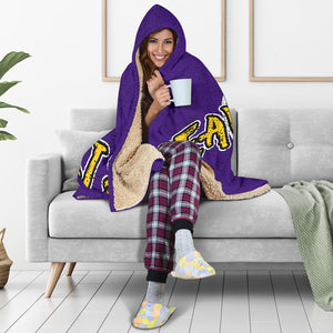Geaux Life/Fluer/Purple/Yellow/White/Hoodie Blanket