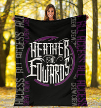 Load image into Gallery viewer, Heather Edwards Band/Backstage Pass/Square Blanket/Purple