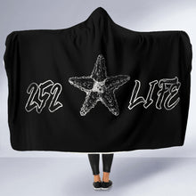 Load image into Gallery viewer, 252 Life/Starfish/Black and White/Hoodie Blanket/Outer Banks/North Carolina