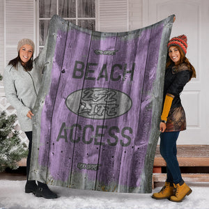 252 Life/Square Blanket/Beach Acces/OBX Spirit/Purple