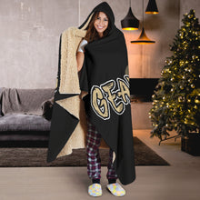 Load image into Gallery viewer, Geaux Life/Fluer/Gold/Black/White/Hoodie Blanket