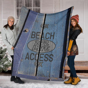 252 Life/Square Blanket/Beach Access/Wagon/Blue/