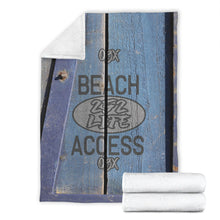 Load image into Gallery viewer, 252 Life/Square Blanket/Beach Access/Wagon/Blue/