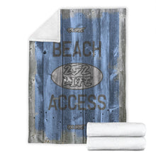 Load image into Gallery viewer, 252 Life/Square Blanket/Beach Access/OBX Spirit/Blue