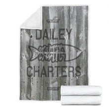 Load image into Gallery viewer, 252 Life/Square Blanket/Dailey Charters/OBX Spirit/BW