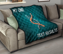 Load image into Gallery viewer, DNA Chain Results Quilt/Blanket/Blue/Orange/Miami