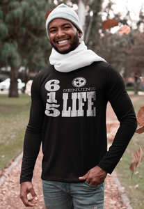 Genuine 615 Life/Vert Logo/Dry Fit/Men's Long Sleeve Moisture Absorbing Tee