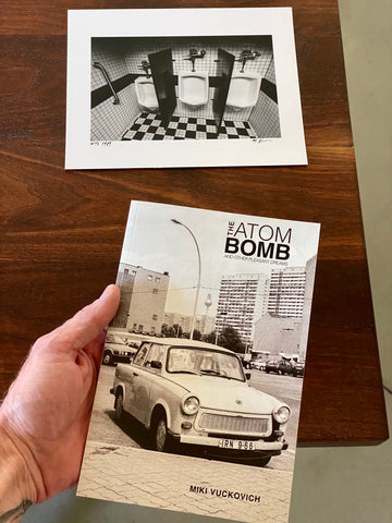 Miki Vuckovich: Book and Print Set. The Atom Bomb and Other Pleasant Dreams + 8x10 Black and White Print (WTC Urinals, NYC)