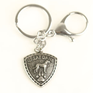 Great Dane Paw Keychain
