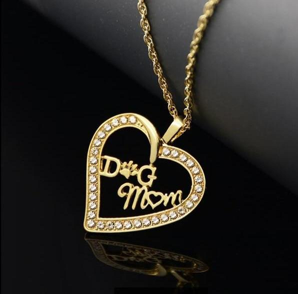 Dog Mom Heart Necklace