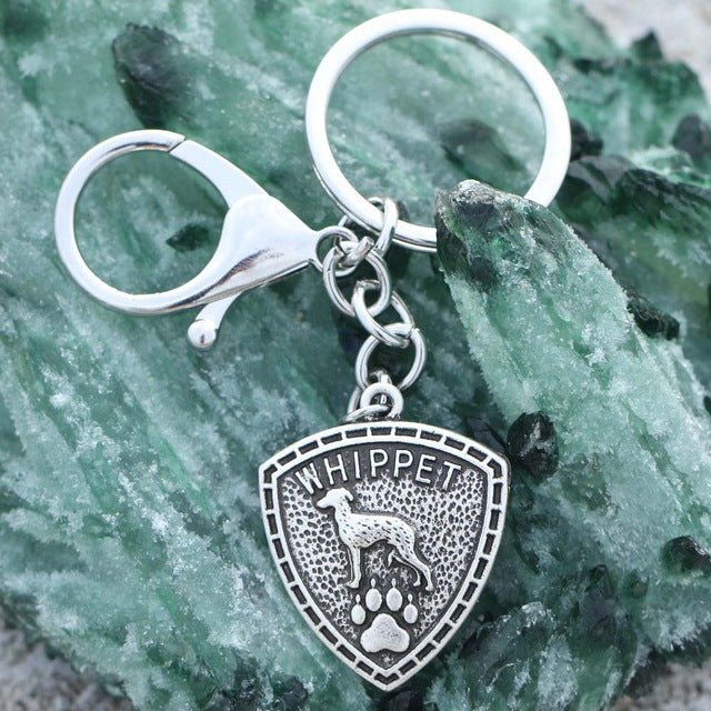Whippet Paw Keychain