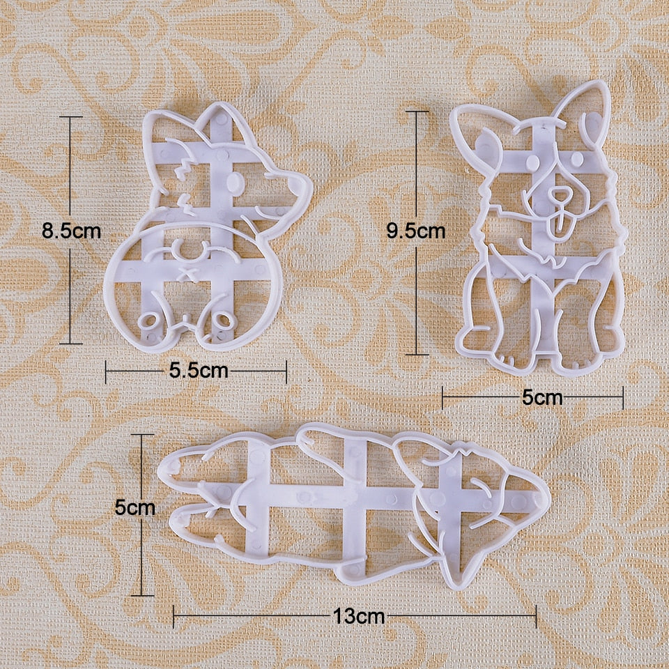Cute Corgi Baking Mold - 3pcs