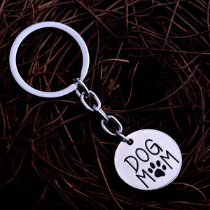 Dog Mom Paw Keychain
