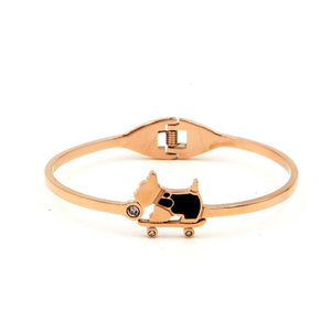 Puppy On Skates Bangle