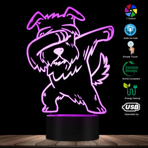 Dabbing Schnauzer Lighting 3D Optical illusion Light USB