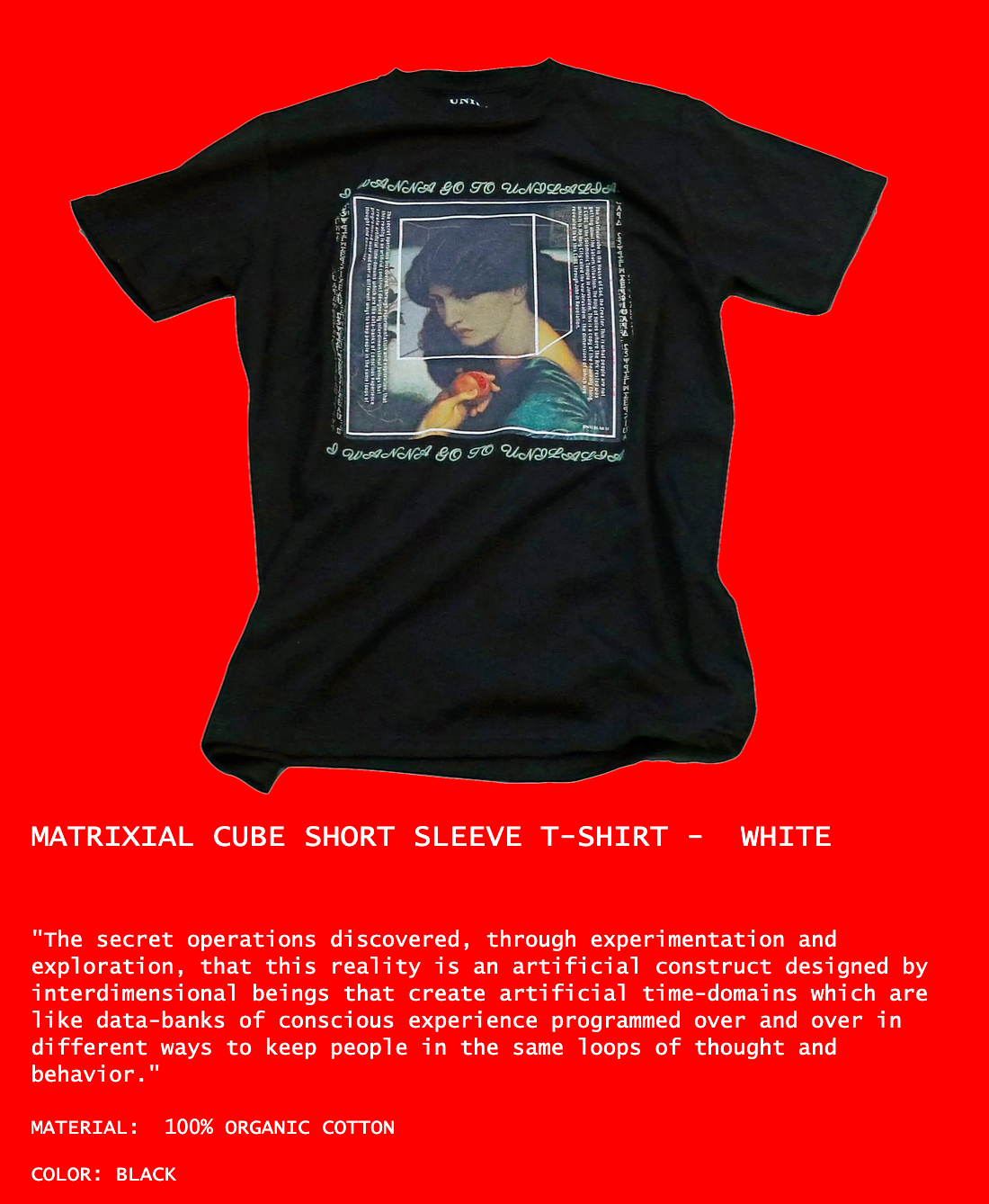 MATRIXIAL CUBE SHORT SLEEVE T-SHIRT -  WHITE