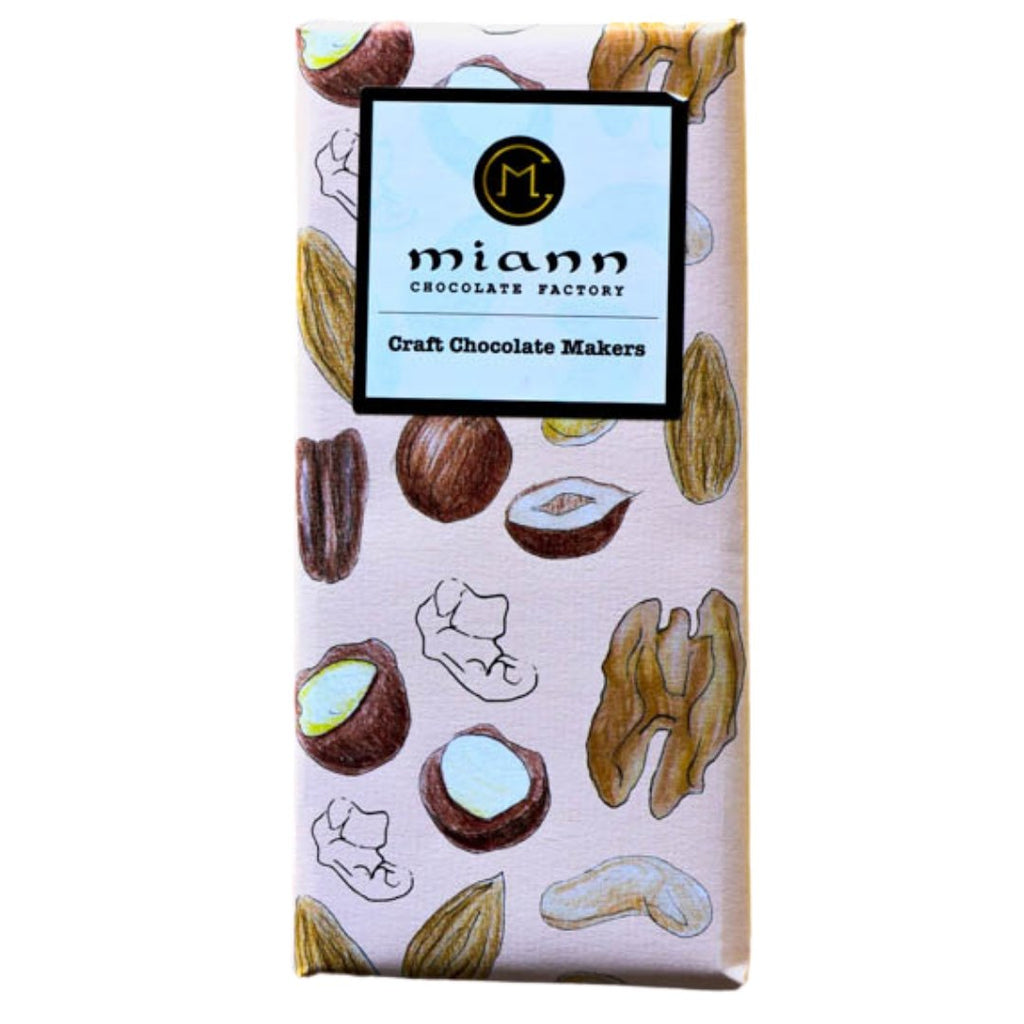Fiji Cacao & Hazelnut Gianduja Chocolate Bar - MiannChocolateFactory