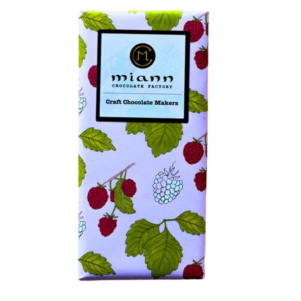 Raspberry & White Chocolate Bar - MiannChocolateFactory