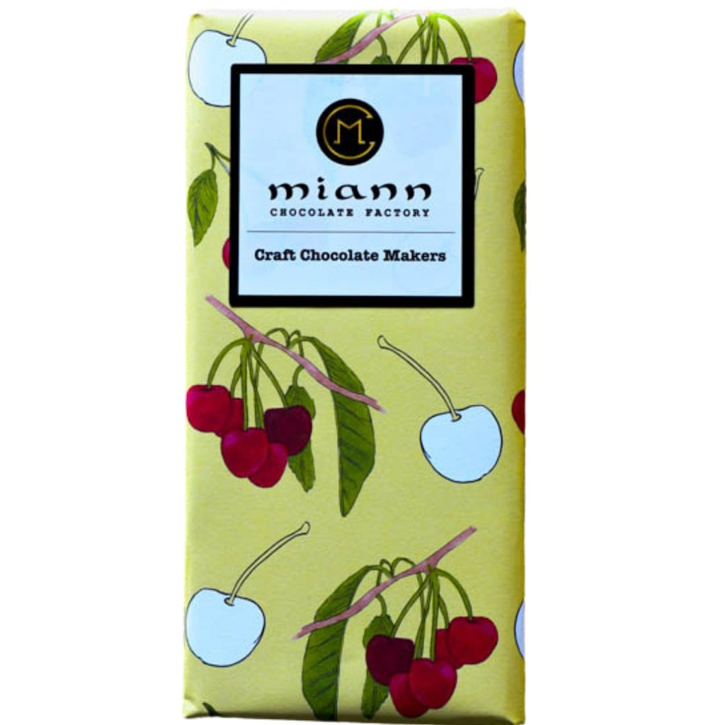 White Chocolate & Freeze Dried Cherry Bar - MiannChocolateFactory