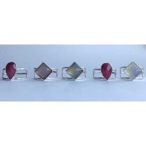 carla merino studio jewelry handcrafted in miami sterling silver rings with semi precious stones